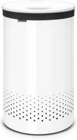 Brabantia wasbox 60 liter met white kunststof deksel en uitneembare waszak white 105142