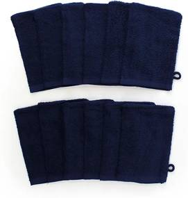 The One Towelling 12-PACK: Washandjes - 16 x 21 cm - Navy