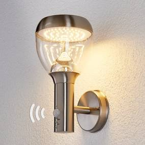 Rvs buitenwandlamp Etta met LED en bewegingssensor - lampen-24