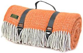 Picknickkleed wol: oranje
