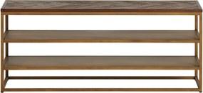 House of Highlights | Dressoir Metropole breedte 130 cm x diepte 40 cm x hoogte 56 cm goud, bruin dressoirs acaciahout, | NADUVI outlet