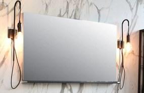 Spiegel rechthoek op alu frame - alu 700x30mm (bxd)