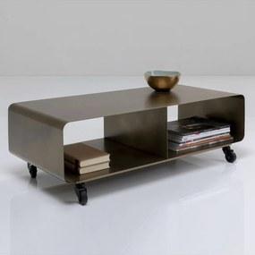 Kare Design Mobil Verrijdbaar Tv-meubel Brons - 90x42x30cm.