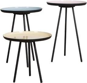Zuiver   Bijzettafel Enamel lengte 31 cm x breedte 29 cm multicolour sidetables aluminium, ijzer meubels tafels   NADUVI outlet