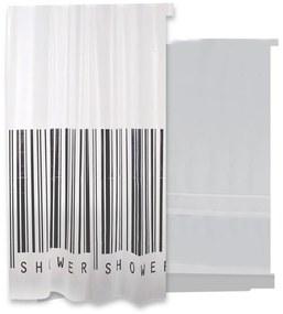 Douchegordijn Differnz Epistu PE 180x200 cm Zwart Wit