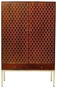 Kare Design Muskat Kledingkast Mangohout Messing - 115x54x180cm.