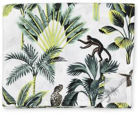 Tafelkleed jungle - wit - 240x140 cm