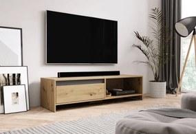 TV Meubel Artisan Eiken & Antraciet - 140 cm