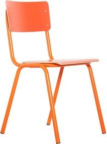 Zuiver Back To School Stapelbare Retro Stoel Oranje