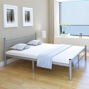 Medina Bed met traagschuim matras metaal grijs 160x200 cm
