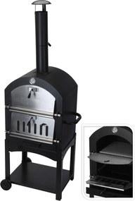 Pizza BBQ l44.5xd65xh158cm, 45kg zwart letaak