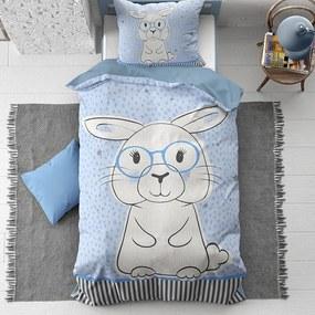 Kinderdekbedovertrek Cute Rabbit - Katoen - Dieren - - Ga naar Dekbed-Discounter.nl & Profiteer Nu