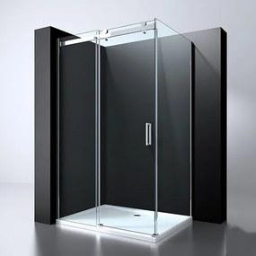 Douchecabine Erico Rechthoek Schuifdeur 90x120x200cm Antikalk Helder Glas Chroom Profiel 8mm Veiligheidsglas Easy Clean