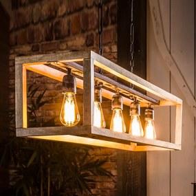Houten Hanglamp Rechthoekig
