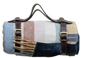 Picknickkleed wol: kleurrijk, strepen Met band