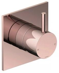 Inbouw Douchemengkraan Hotbath Cobber 1-hendel Vierkant Roze Goud