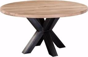 Eiken Eettafel houten eettafel XX-poot - Rond