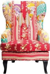 Kare Design Patchwork Red Kleurrijke Fauteuil