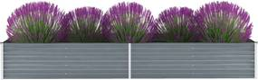 Plantenbak verhoogd 320x80x45 cm gegalvaniseerd staal grijs