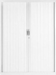 Roldeurkast Proline 160 x 120 cm incl. 3 legborden - Wit