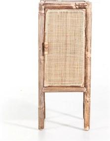 By-Boo Metz Bamboe Kastje Met Rotan Deur - 35x35x85cm.