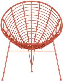 WOOOD | Loungestoel Jane hoogte 88 cm x breedte 72 cm x diepte 81 cm roze overige stoelen polypropyleen stoelen & fauteuils | NADUVI outlet
