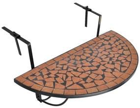 Balkontafel hangend mozaïek terracottakleurig