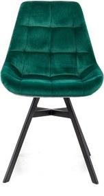 Mister Habitat   Eetkamerstoel Isa zithoogte 45 cm x zitbreedte 50 cm x zitdiepte 42 groen, grijs, zwart eetkamerstoelen   NADUVI outlet
