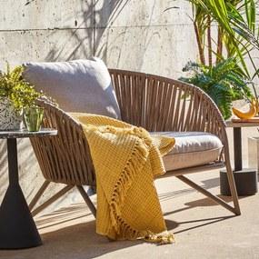 Kave Home Branzie Buitenstoel Met Bruin Touw