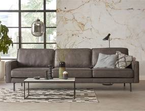 Modern-industriele Bank - 4 Zits - Soft Stone Antraciet
