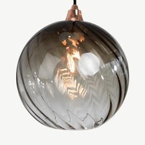 Ilaria hanglamp lampenkap, schemerig olijfgroen