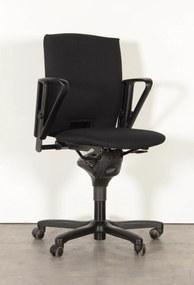 Bureaustoel D5083, zwart, (opnieuw gestoffeerd) 1D armleggers
