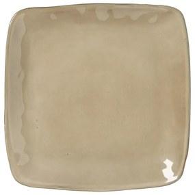 Vierkant bord Toscane - bruin - 25 cm