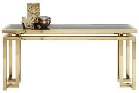 Kare Design Gold Rush Hoekige Console - 160 X 45cm.