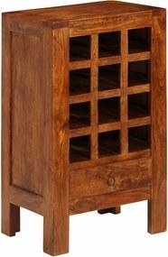 Wijnrek 50x37x90 cm massief acaciahout bruin