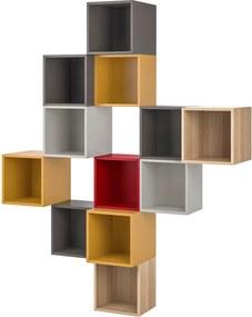 EKET Kastencombinatie voor wandmontage veelkleurig 1
