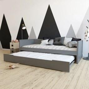 Bedbank Leonard BLN-kids Antraciet 90x200 incl. Onderbed