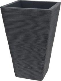 Bloempot geribbeld vierkant