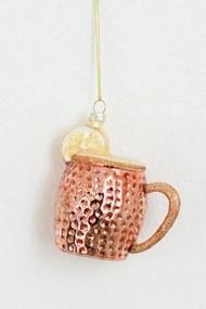 Kerst ornament copper can met fruit
