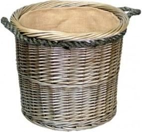 Medium Antieke Was Ronde touw Behandeld houtblokken Mand
