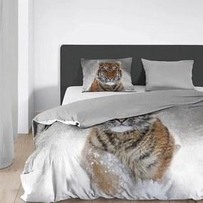 Good Morning Snow Tiger - Verwarmend Flanel Lits-jumeaux (240 x 200/220 cm + 2 kussenslopen) Dekbedovertrek
