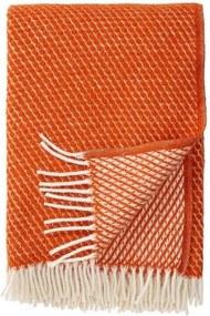 Plaid lamswol Velvet: oranje