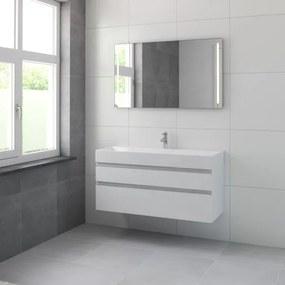 Bruynzeel Roma badmeubelset 120x60.5x46cm met spiegel verlichting mat wit 227661k