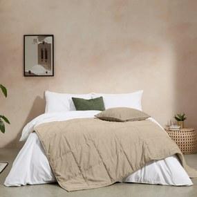Selky bedsprei, 125 x 225 cm, zacht taupe