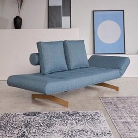 Innovation Living Ghia Wood Design Bedbank Met Eiken Poten-525 Lichtblauw - 525