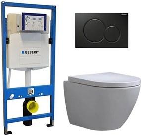 Geberit UP 320 Toiletset - Inbouw WC Hangtoilet Wandcloset - Shorty Sigma-01 Zwart