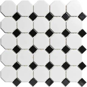 Mozaiek Paris Octagon Wit en Zwart