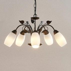 Isalie LED hanglamp, 5-lamps - lampen-24