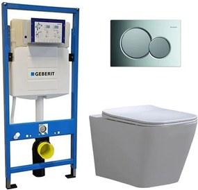 Geberit UP 320 Toiletset - Inbouw WC Hangtoilet Wandcloset - Alexandria Flatline Sigma-01 Glans Chroom