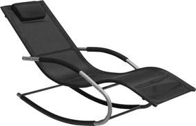 Ligstoel zwart CARANO